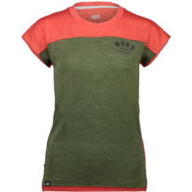 Mons Royale Zephyr Lite Tee Dame poppy/wasabi